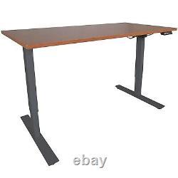 Titan Fitness A2 Réglable Sit/stand Desk 30 X 60 Cherry Finish Cadre Noir