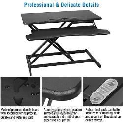 Us Stock Height Adjustable Standing Desk Monitor Riser Sit To Stand Poste De Travail