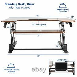 Used Vivo Taille En Bois Foncé Ajustez Le Support De Table Riser Riser