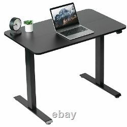 Utilisé Vivo Black Electric 40 X 24 Sit Stand Desk, Poste De Travail Réglable En Hauteur