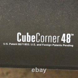 Varidesk Cube Corner 48 Convertisseur De Bureau Noir Réglable En Hauteur