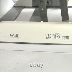Varidesk Proplus 36 Blanc Réglable En Hauteur Double Affichage Bureau Assis Conv