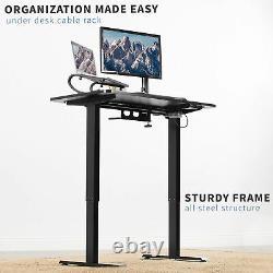 Vivo Black Electric 44x 24 Sit Stand Desk, Poste De Travail Réglable En Hauteur