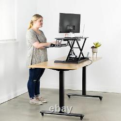 Vivo Black Electric Height Réglable Standing Desk Sit-stand Riser Poste De Travail
