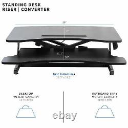 Vivo Black Height Réglable Standing Desk Monitor Riser 30 Sit Stand Tabletop