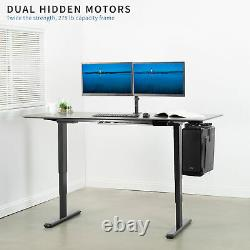 Vivo Electric Sit To Standing Height Desk Frame Dual Motor Ergonomie Réglable