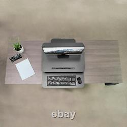 Vivo Hauteur Réglable Bureau Debout Ressort De Gaz Riser 25 Tabletop Sit Stand