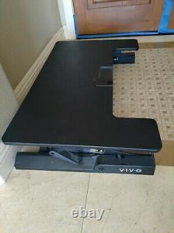 Vivo Noir Hauteur Réglable De Bureau Debout Riser Tabletop Sit Stand