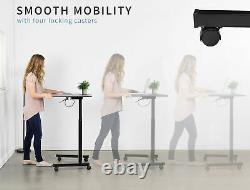 Vivo Réglable Presentation Cart Tension Spring Sit-stand Mobile Workstation