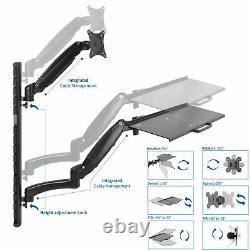 Vivo Sit-stand Wall Mount Counterbalance Réglable Monitor Clavier Poste De Travail