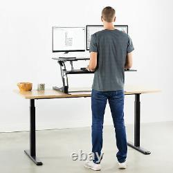 Vivo Taille Noire Réglable 36 Asseyez-vous Pour Se Tenir Debout Tabletop Monitor Riser