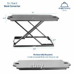 Vivo Taille Noire Réglable Debout 27 Desk Sit Stand Tabletop Monitor Riser