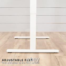 Vivo White 47x 24 Electric Sit Stand Desk, Poste De Travail Réglable En Hauteur