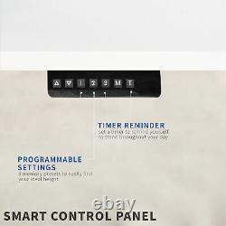 Vivo White 55x 24 Electric Sit Stand Desk, Poste De Travail Réglable En Hauteur