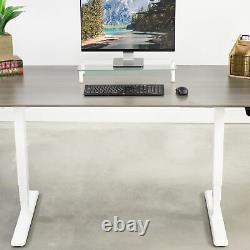 Vivo White Electric Sit Standing Height Réglable Desk Frame Dual Motor (en)